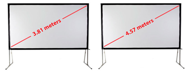 Indoor projection hire screen dimensions